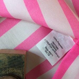 J. Crew Tops - J. CREW Horizontal Pink & White Stripe Shell